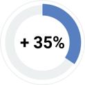 35 per cento efficienza gestione